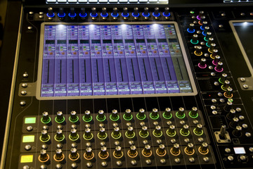 Music Mixer desk at he Concert
