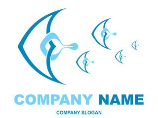 abstract fish logotype