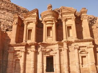 Monastery. Petra. Jordan.