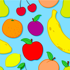 Seamless fruit background