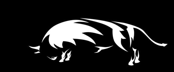 tribal bull vector clip-art
