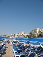 Promenade des Anglais à Nice plage privée