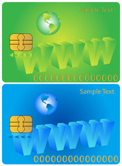 Illustration of banking card