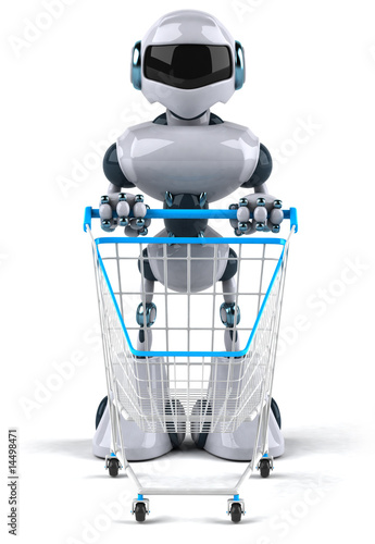 robot fait les courses photo libre de droits sur la banque d 39 images image 14498471. Black Bedroom Furniture Sets. Home Design Ideas