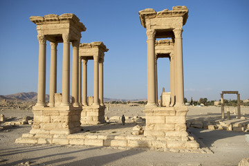 Ruinen in Palmyra, Syrien