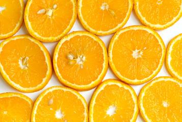 Aluminium Prints Slices of fruit Orangenscheiben