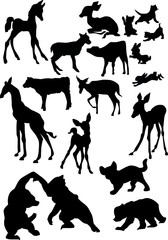 animal baby silhouettes