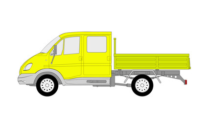 Vector illustration of the lorry for farmers