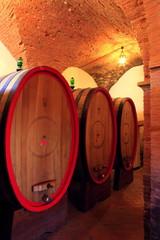Fototapete - Weinkeller, Montepulciano,Toskana, Italien
