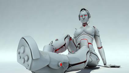 female robot  that sits