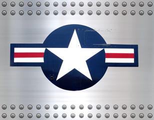 star on brushed metal