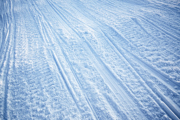 Wall Murals Arctic Snowmobile Track Texture