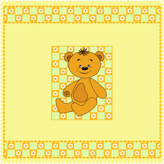 In de dag Beren Baby seamless. Bears. Vector illustration.