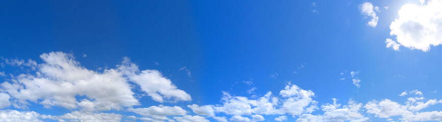 big panorama. landscape blue sky