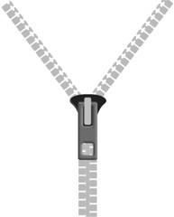 Zipper on white