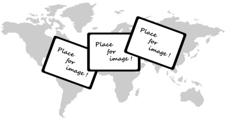 Illustration of map and frames