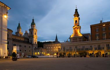 Salzburg at sunset