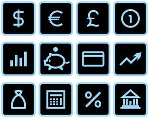 Vector Finance, Banking Icon Set