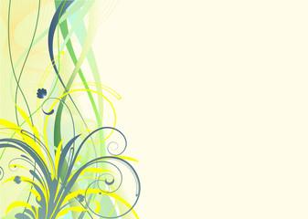 Vector illustration of Grunge Floral Background