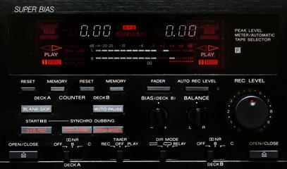 peak level meter von einem cassette deck