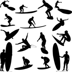 surfers collection - vector