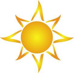 Artistic drawing sun
