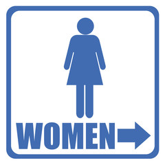 toilet sign - women
