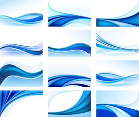 In de dag Abstract wave Set of abstract backgrounds vector