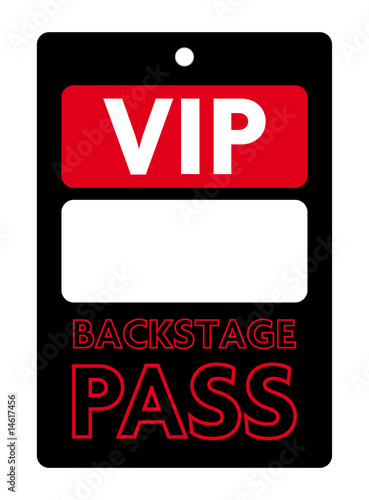 Backstage Pass Template  Free Vip Pass Template