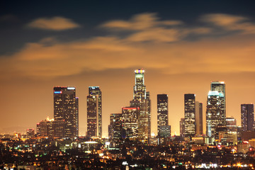 Fototapete - Downtown Los Angeles skyline
