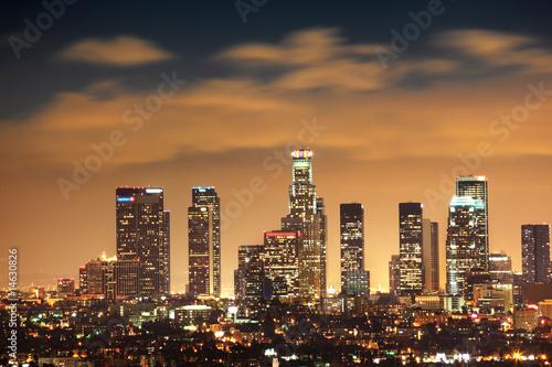 Fotobehang Downtown Los Angeles skyline