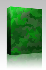 Camouflage pattern texture box package