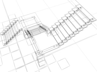 abstract sketch stairs