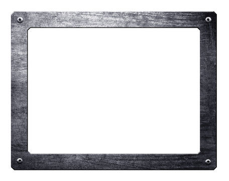 metal frame isolated with clipping path