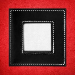 elegant leather picture frame