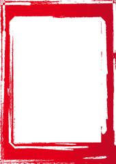 Roter Rahmen Pinsel