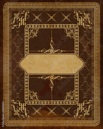 fairy tale book cover template - vintage book cover template stock photo and royalty free