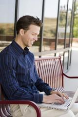 Business man laptop