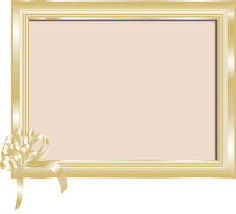 Golden frame for your photo or text