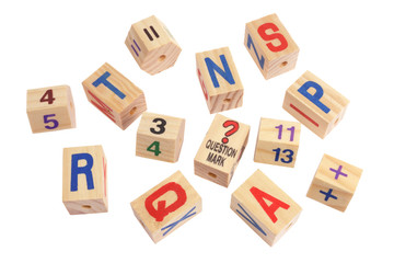 Wooden Alphabet and Number Blocks