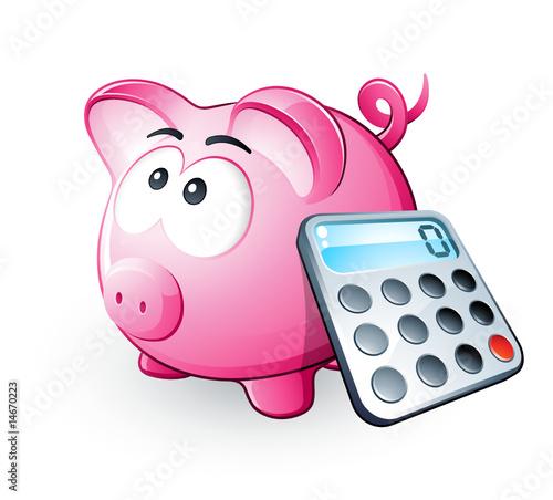 Cochon tirelire et calculatrice fichier vectoriel libre for Calculatrice en ligne gratuite