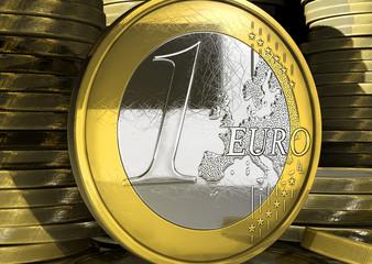 Euro coin concept