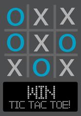 Tic Tac Toe game illustration. Vector format