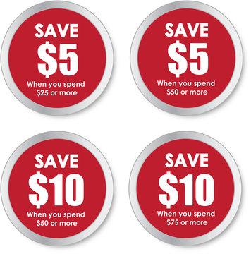 Sale Stickers - Save Money
