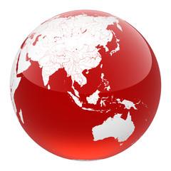 red aqua earth