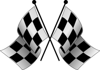 crossed checkered flags