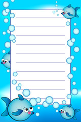 Kid notebook with blank lined page