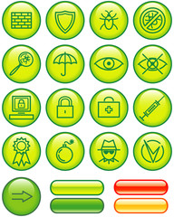 Web Icons Set – Safety (Vector)