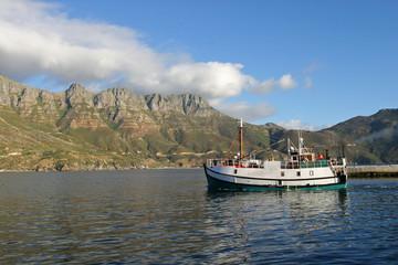 Fishing boat leaving Hout Bay