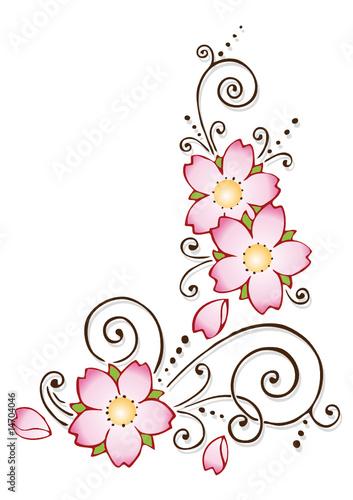Fiori rosa immagini e vettoriali royalty free su fotolia for Fiori stilizzati immagini